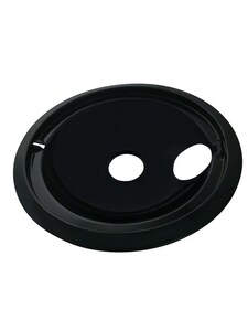 PROSELECT® 8 in. Drip Bowl in Black (6 Pack) PS3040208