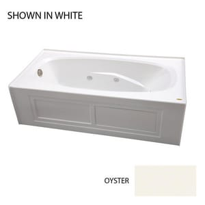 JACUZZI® Amiga® 72 x 36 in. Whirlpool Drop-In Bathtub with End Drain in Oyster JAMS7236WRL2CHY