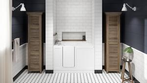 JACUZZI® Finestra® 60 x 30 in. Acrylic Rectangle Alcove Bathtub with Right Drain in White JFIN6030BRXXXXW