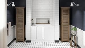 JACUZZI® Finestra® 60 x 36 in. Acrylic Rectangle Alcove Bathtub with Right Drain in White JFIN6036BRXXXXW