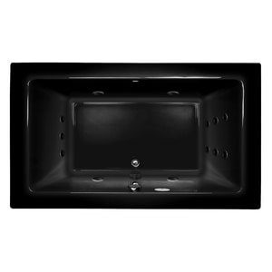JACUZZI® Sia® 66 x 36 in. 13-Jet Acrylic Rectangle Drop-In or Undermount Whirlpool Bathtub with Center Drain and J5 LCD Control in Black JSIA6636WCR5IWB