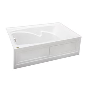 JACUZZI® Cetra® 60 x 36 in. Drop-In Soaking Bathtub with Left Drain in White JCTS6036BLXXXX