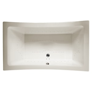 JACUZZI® Allusion® 72 x 42 in. Acrylic Rectangle Drop-In Air Bathtub with Center Drain and J4 Luxury Control in Oyster JALL7242ACR4CXY