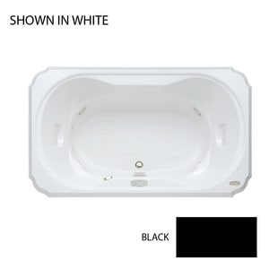 JACUZZI® Bellavista™ 66 x 42 in. Thermal Air Drop-In Bathtub with Center Drain in Black JBEL6642CCR4IHB