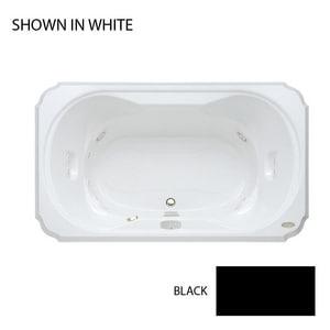 JACUZZI® Bellavista™ 72 x 42 in. Whirlpool Drop-In Bathtub with Center Drain in Black JBEL7242CCL4CWB