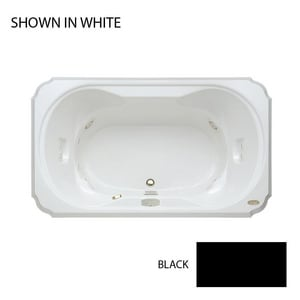 JACUZZI® Bellavista™ 72 x 42 in. Whirlpool Drop-In Bathtub with Center Drain in Black JBEL7242WCR5IWB
