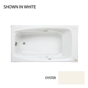 JACUZZI® Cetra® 32 in. 56 gal Acrylic Drop-In Rectangle Whirlpool Bathtub with Left Drain in Oyster JCET6032ALR2XXY