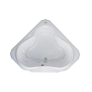 Jacuzzi Bellavista™ 59-3/4 x 59-3/4 in. 10-Jet Acrylic Corner Drop-In Whirlpool Bathtub with Center Drain and J4 Luxury Control JBEL6060WCL4CH