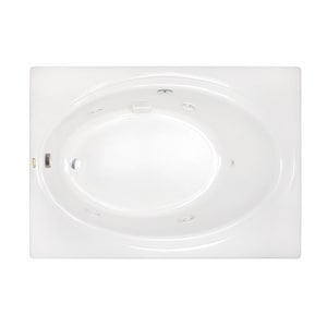 JACUZZI® Nova™ 42 in. 54 gal Acrylic Drop-In and Skirted Rectangle Whirlpool Bathtub with Left Drain in White JNOT6042WLR2XXW
