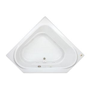 JACUZZI® Capella® 60 x 60 in. Drop-In Corner Comfort Whirlpool Bathtub with Left Drain in White JCAP6060WCL2XXW