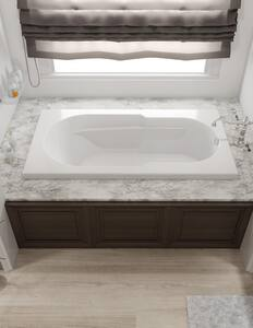 JACUZZI® Signature™ 60 x 32 in. Whirlpool Drop-In Bathtub with End Drain in White JJ2D6032WRL1XXW