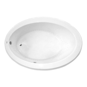 Jacuzzi Gallery™ 62 x 43 in. Acrylic Oval Drop-In or Undermount Air Bathtub with Right Drain and J2 Basic Control JGAL6243ARL2XX