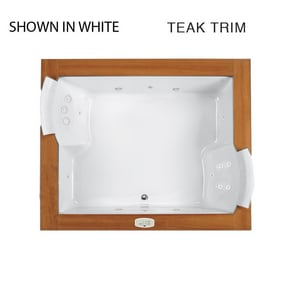 JACUZZI® Fuzion® 71-3/4 x 59-3/4 in. Thermal Air Drop-In Bathtub with Center Drain in White JFUZ7260WCR4CHW