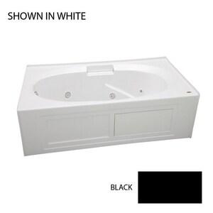 JACUZZI® Nova™ 72 x 36 in. Whirlpool Drop-In Bathtub with End Drain in Black JNVS7236WRL2XXB