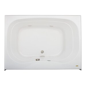 JACUZZI® Signa® 60 x 42 in. Whirlpool Drop-In Bathtub with Center Drain in White JSGS6042WCF2XXW