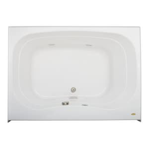 Jacuzzi Signa® 60 x 42 in. Acrylic Rectangle Drop-In or Skirted Whirlpool Bathtub with Center Drain and J2 Basic Control JSGS6042WCF2HX