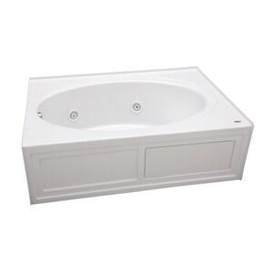 JACUZZI® Nova™ 60 x 42 in. Whirlpool Drop-In Bathtub with End Drain in White JNVS6042WRL2HXW