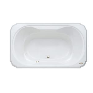 Jacuzzi Bellavista™ 59-3/4 x 41-3/4 in. Acrylic Rectangle Drop-In Bathtub with Center Drain and J2 Basic Control JBEL6042BCX2CX