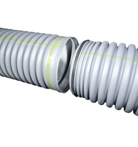 Advanced Drainage Systems 21 in. x 20 ft. Plastic Dual Wall Storm Drainage Pipe A21650020IBPL