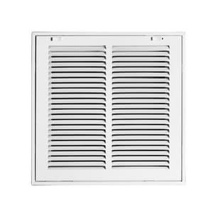PROSELECT® 16 in. Return Air Filter Grille in White Steel PSFGW1612