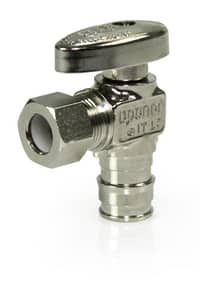 Uponor ProPEX® 1/2 in x 3/8 in Oval Handle Angle Supply Stop Valve ULF4855038