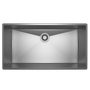 ROHL® Luxury® 34-1/2 x 19-1/2 in. Stainless Steel Single Bowl Undermount Kitchen Sink RRSS3318SB