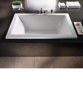 MTI Whirlpools® Andrea® 13 65-3/4 x 41-7/8 in. Soaker Drop-In Bathtub with Center Drain in White MTIS103WHDI