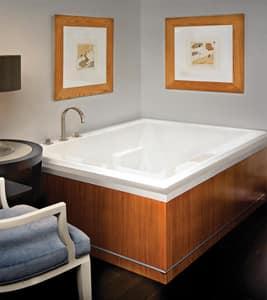 Andrea® 9 66-3/4 x 49 in. Soaker Drop-In Bathtub with Left Drain in White MTIS114WHUM
