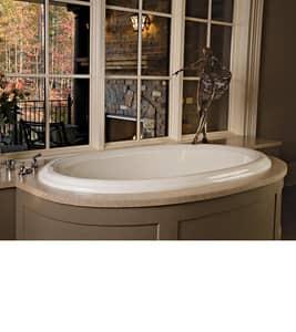 MTI Whirlpools® Victoria 3 71-1/4 x 40-3/4 in. Soaker Drop-In Bathtub with Center Drain in White MTIS117WH