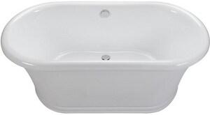 MTI Whirlpools Designer 65 x 33-3/4 in. Freestanding Bathtub in White MTIAST208WH