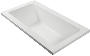 Andrea® 26 54 x 30 in. Air Bath Drop-In Bathtub with End Drain in Biscuit MTIAEAP226UBIDI