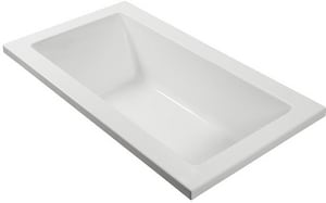 Andrea® 26 54 x 30 in. Air Bath Drop-In Bathtub with End Drain in Biscuit MTIAW226BIUM