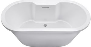 MTI Whirlpools New Yorker 10 71-3/4 x 35-1/2 x 23-1/4 in. Acrylic Air Bath Freestanding Oval Bathtub with Center Drain in White MTIAST225WH