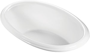 Victoria 1 68-1/2 x 40-3/4 in. Whirlpool Drop-In Bathtub with Left Drain in White MTIP3WH