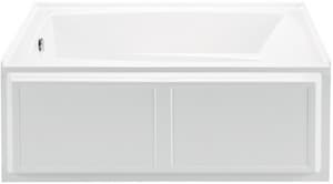 MTI Whirlpools® Wyndham 5 59-3/4 x 32 in. Alcove Rectangle Bathtub with Left Hand Drain in White MTIS80WHLH
