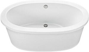 Mti Baths Adena 7 59-1/2 x 35-1/4 in. Freestanding Bathtub with Center Drain in Bone MTIS75BO