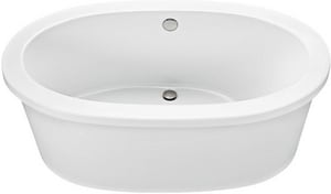 Mti Baths Adena 7 59-1/2 x 35-1/4 in. Freestanding Bathtub with Rear Center Drain in Bone MTIAST75BO