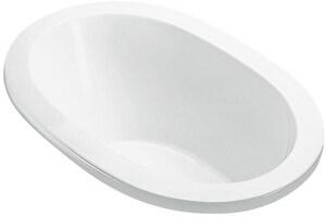MTI Whirlpools® Adena 1 59-1/2 x 32-1/4 in. Soaker Drop-In Bathtub with Center Drain in White MTIS76WHDI