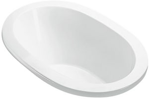Adena 1 59-1/2 x 32-1/4 in. Whirlpool Drop-In Bathtub with Center Drain in White MTIP76UWHUM