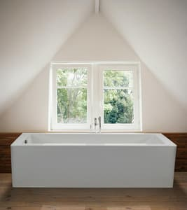 MTI Whirlpools® Andrea® 1 71-5/8 x 31-5/8 in. Freestanding Rectangle Bathtub with Reversible Drain in White MTIS91ASCULPT3