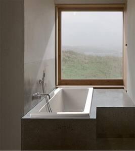MTI Whirlpools® Andrea® 4 66 x 32 in. Soaker Drop-In Bathtub with Left Drain in White MTIS94WHUM