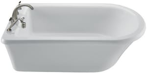 65.5X 35.75 BASICS FREESTANDING SOAKING TUB W/ DECK FOR FIXTURES AND VIRTUAL SPOUT-WHITE MTIMBSXFSX6636VS