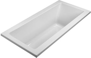 Basics® 66 x 32-1/4 in. Whirlpool Drop-In Bathtub with Left Drain in White MTIMBWCR6632WHUM