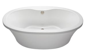 MTI Whirlpools Basics® 66 in. Soaking Freestanding Bathtub with Center Drain MTIMBSOFSX6636