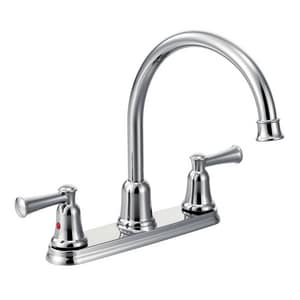 Cfg Capstone 2 Gpm 3 Hole High Arc Kitchen Faucet With Double Lever Handle