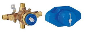 GROHE Grohsafe 1/2 in. MNPT and Copper Sweat Pressure Balancing Valve G35015001