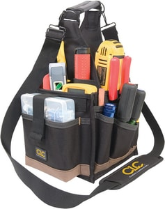 CLC Custom Leather Craft 23-Pocket Electrical and Maintenance Tool Pouch in Black C1526