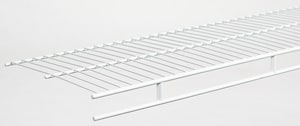 Closetmaid 12 ft. x 12 in. Shelf and Rod in White C3730000