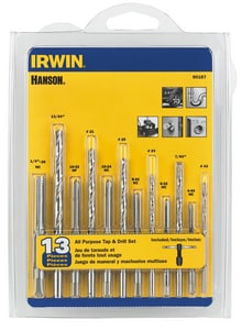 Irwin Industrial Tool 3/32 in. x 7/32 in, 5/32 in, 9/64 in, 7/64 in, 3/32 in. x 1/4 in. Straight Thread Mill 13 Piece I80187