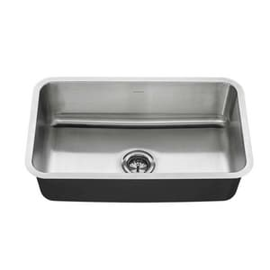 American Standard Portsmouth® 9 in. 18 ga 1-Bowl Undermount Kitchen Sink in Stainless Steel A18SB9301800T075